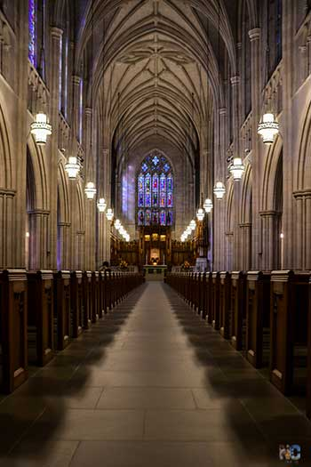 Inside Duke University Chapel Durham NC Image