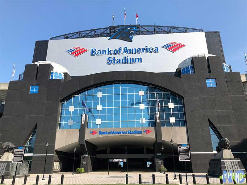 Bank of America Stadium near Hilton Hotel Charlotte nc