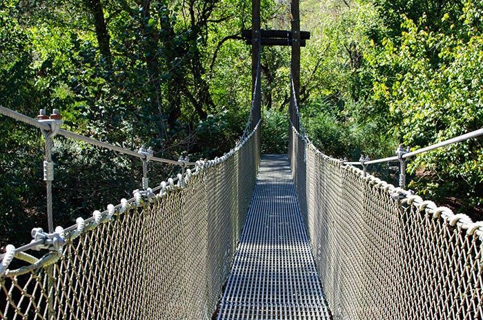 First Broad River Trail Suspension Bridge