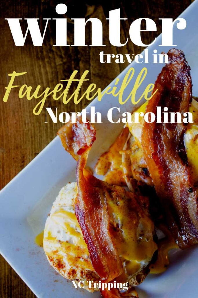 Five Fun Winter Things to do in Fayetteville NC Pinterest Image