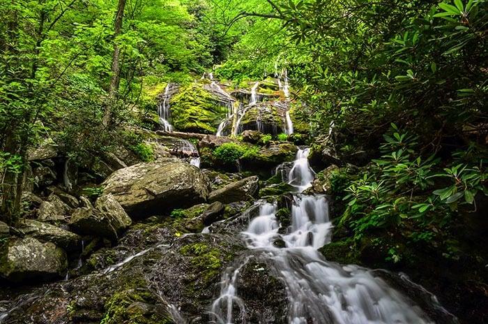 Catabwa Falls Waterfalls near Asheville NC