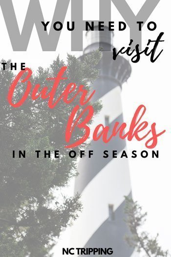 Outer Banks NC Things to Do in the Offseason Travel Guide Pinterest Image
