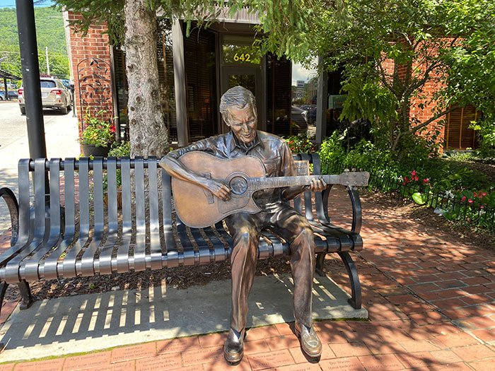 Small Towns in North Carolina Boone Doc Watson Statue