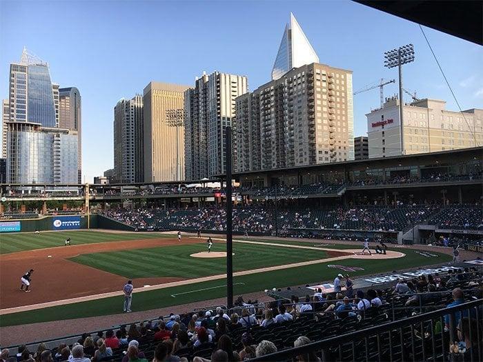 Summer in North Carolina Charlotte Knights Minor League Baseball Image