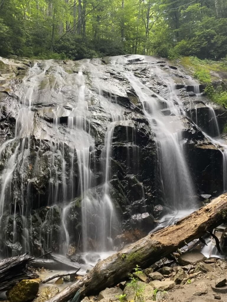 Hiking down to Glen Burney Falls is one of our favorite things to do in Blowing Rock.