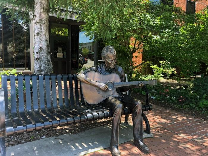 Doc Watson Statue Boone NC