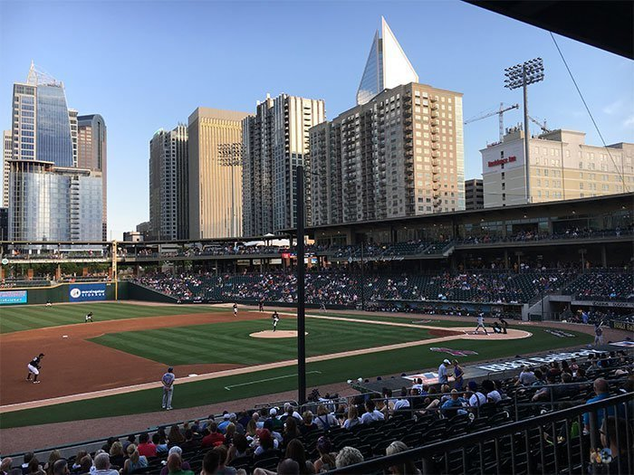 Outdoor Things to Do in Charlotte NC BB&T Ballpark Image