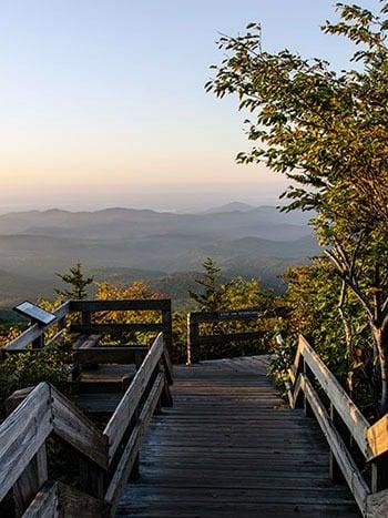 Rough Ridge Overlook Blue Ridge Parkway NC
