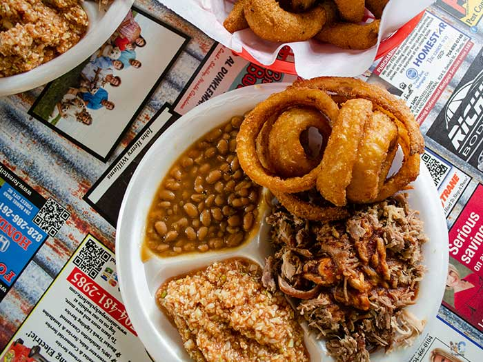 NC Barbecue Restaurant Red Bridges Barbecue Shelby NC Image