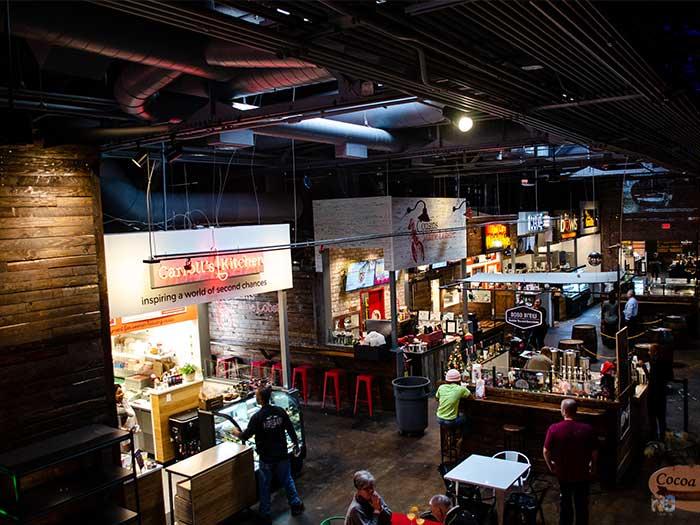 Morgan Street Food Hall is a hub of so many wonderful Raleigh restaurants.
