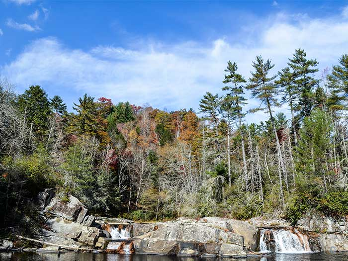 Hiking Trails in NC Linville Falls Image