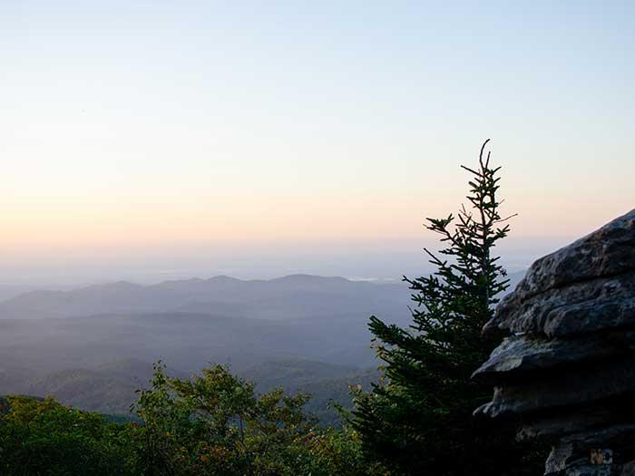 Hiking in North Carolina Rough Ridge Trail Image
