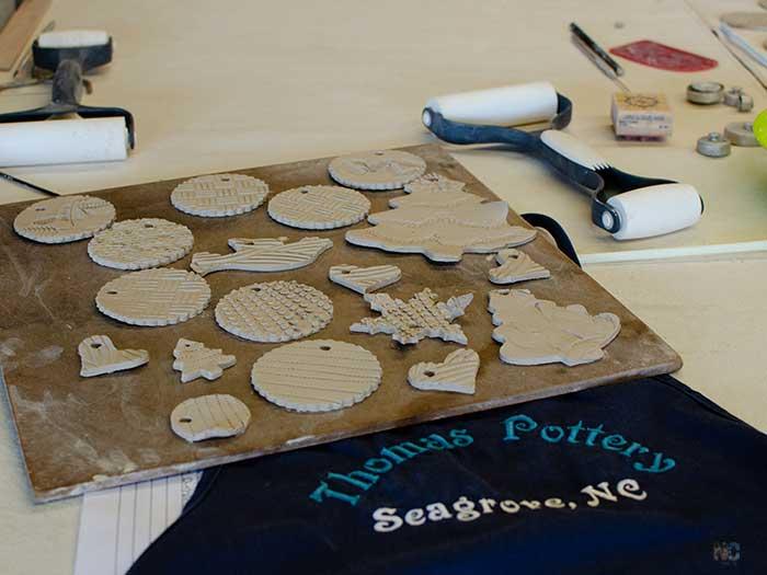 Christmas in North Carolina Seagrove Pottery Image