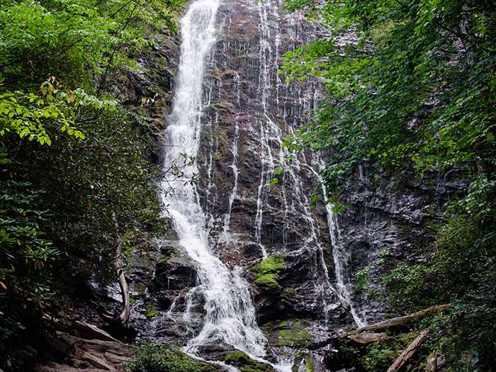 Waterfall Hikes near Asheville NC Mingo Falls Image
