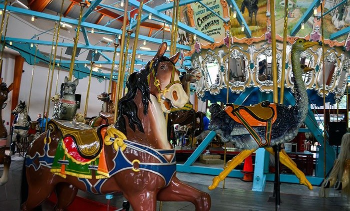 Things to Do in Raleigh NC with Kids Pullen Park Carousel Image