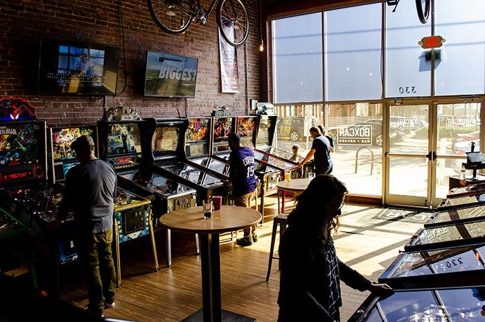 Weekend in Raleigh NC Boxcar Barcade Image