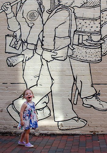 Chapel Hill NC Franklin Street Mural Image