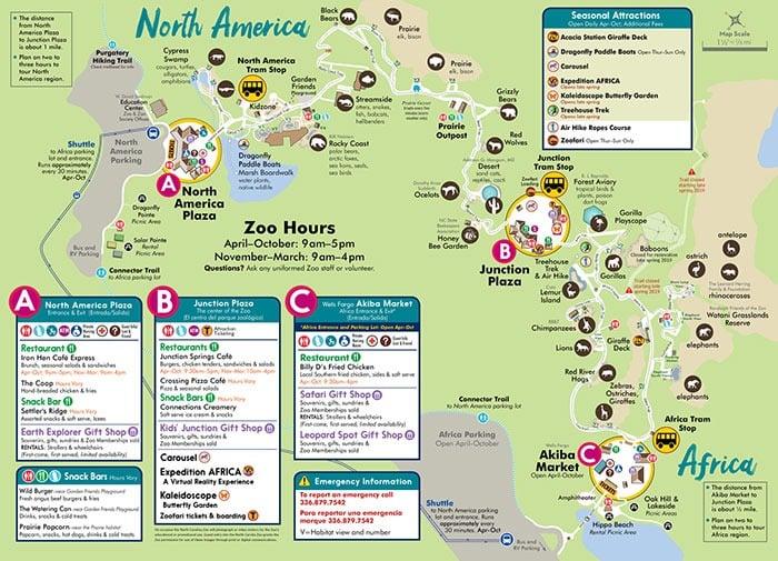 NZ Zoo Map Image