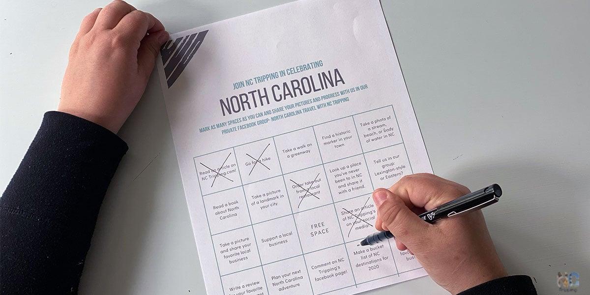 North Carolina Bingo Card Featured Image