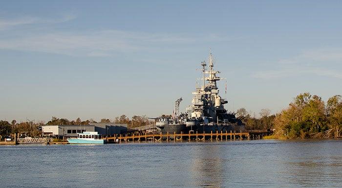 Wilmington NC Battleship Outside Image