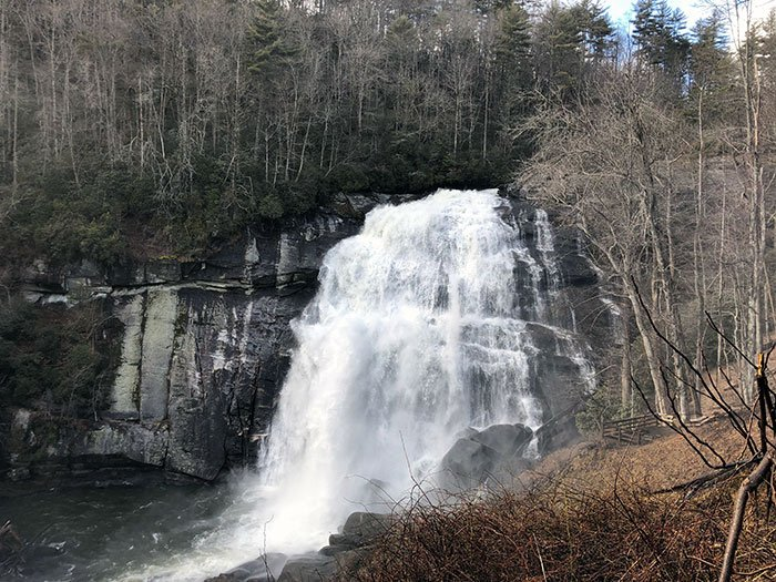 Day Trips from Asheville NC Rainbow Falls at Gorges State Park