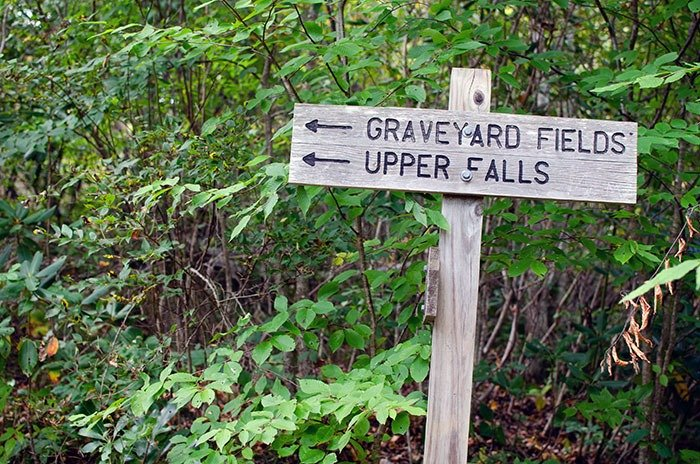 Be sure to follow signs at Graveyard Fields