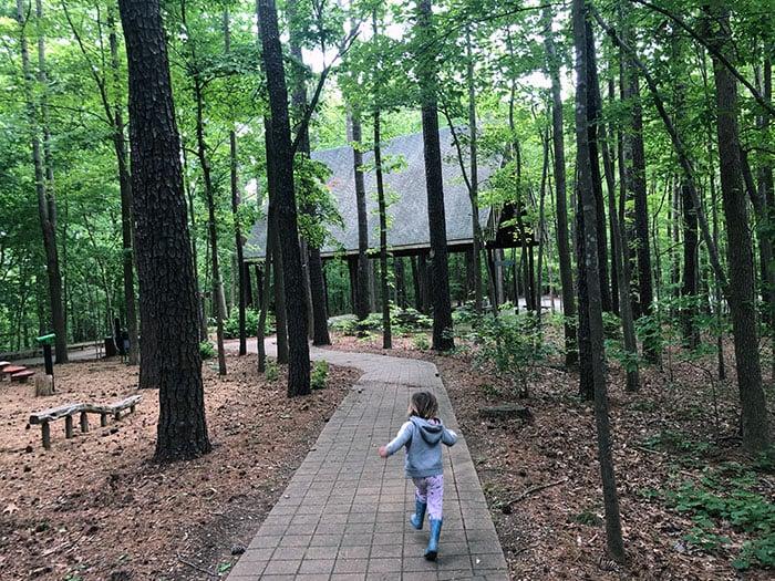 Hiking in Cary NC Hemlock Bluffs Nature Preserve