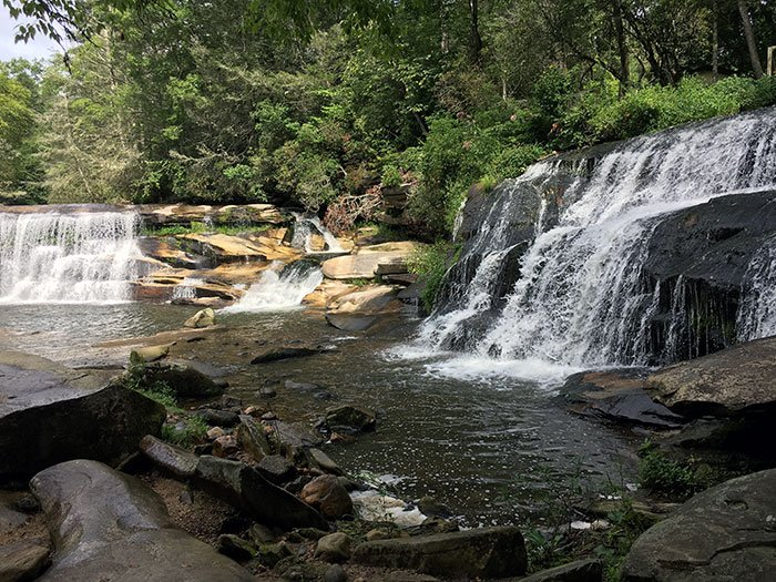 Three Waterfalls close to each other make this one of the best day trips from Asheville