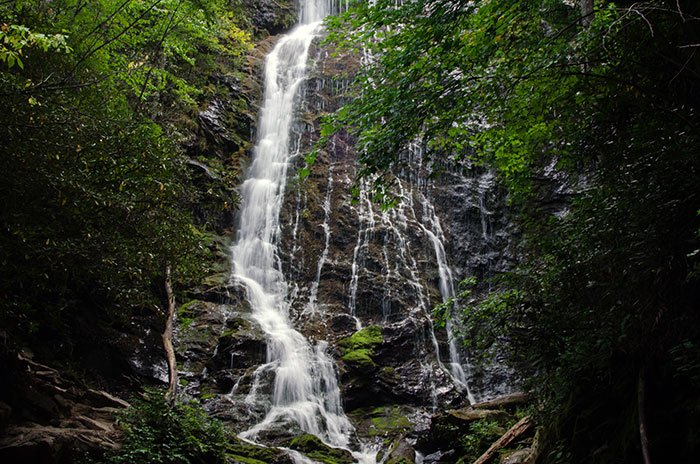 Mingo Falls is always worth special day trips from Asheville