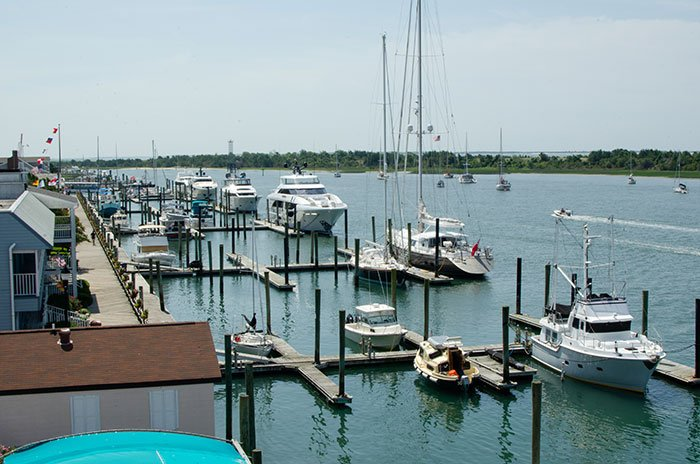 Beaufort NC Waterfront view from Moonrakers