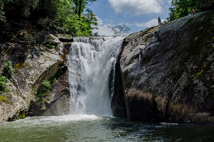 Elk River Falls is one of the largest and most popular waterfalls near Banner Elk.