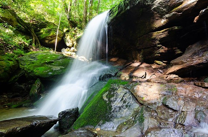 Otter Falls is one of the most serene waterfalls near Boone and Banner Elk you'll find.