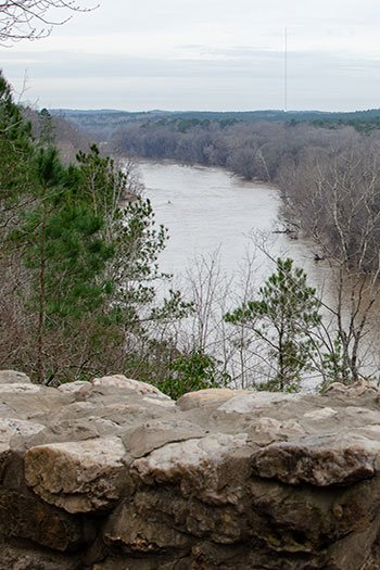 The view from the Raven Rock Overlook changes according to the season.