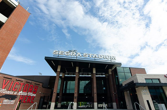 Segra Stadium is probably the biggest of the outdoor attractions in Fayetteville.