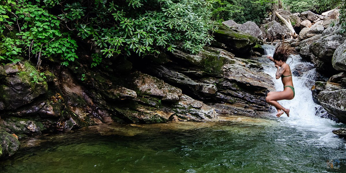 Skinny Dip Falls in Transylvania County might once have been a secret but it's very popular now.