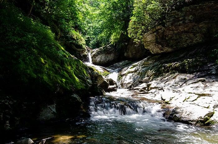 Trash Can Falls Waterfall near Boone