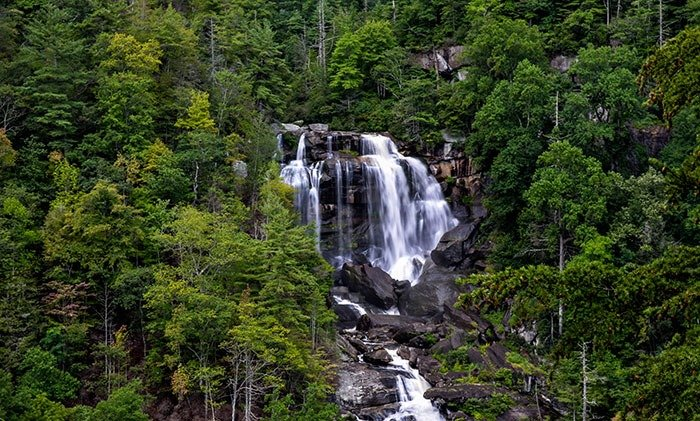 Upper Whitewater Falls is a bit of a drive from Dry Falls but totally worth it!