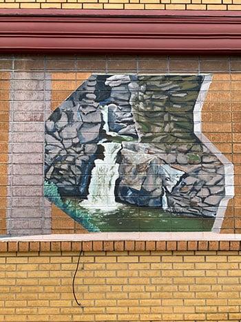 Valdese NC McGalliard Falls Mural