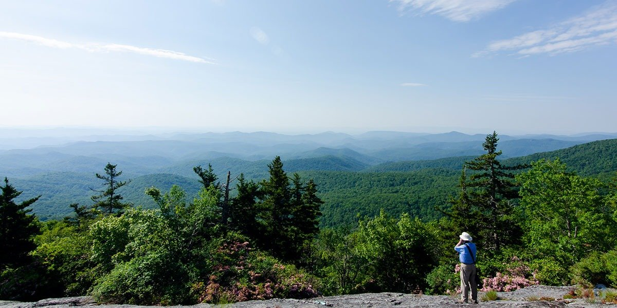 Beacon Heights Overlook is one of our favorites in all of North Carolina!