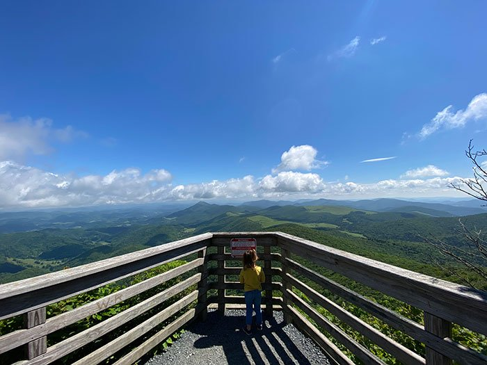 Elk Knob State Park is a newer park but full of fun hiking trails near Boone.