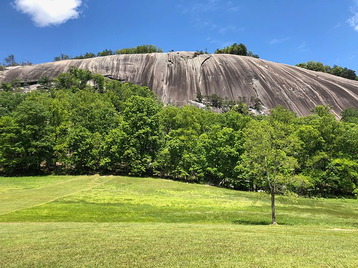Stone Mountain State Park is one of the furthest away hikes near Boone, Blowing Rock, and Banner Elk. But it's worth the drive!