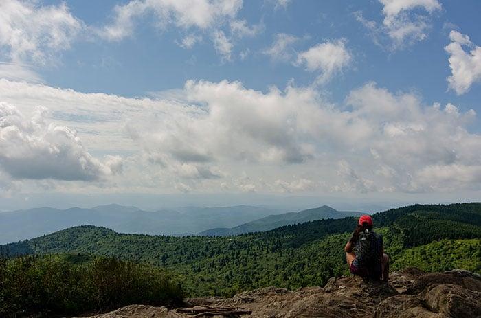 Hiking Black Balsam Knob near Asheville