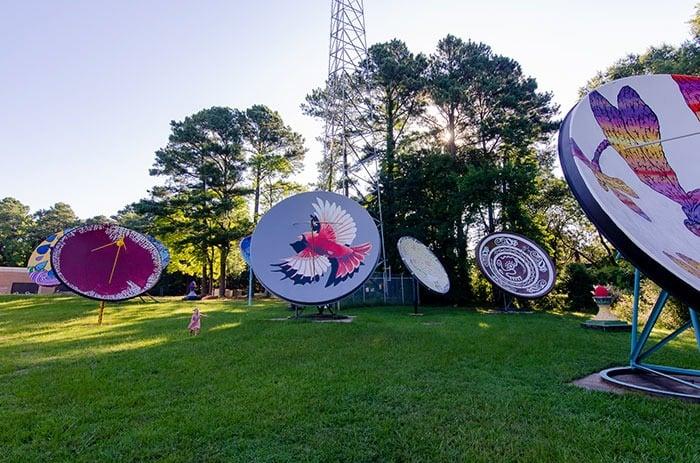 Murals in Durham NC Satellite Park
