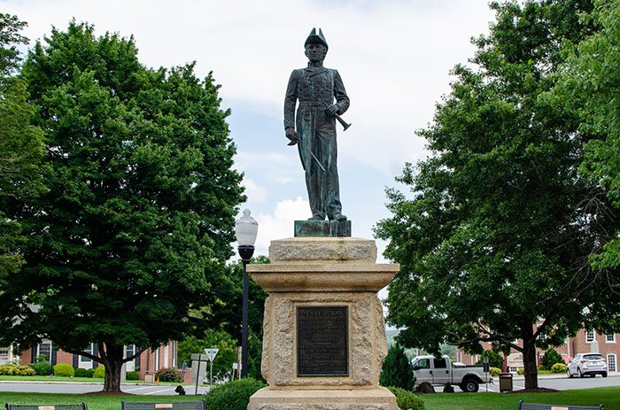 The Otway Burns statue in Downtown Burnsville is a great introduction to the town, considering this is the guy it's named for.