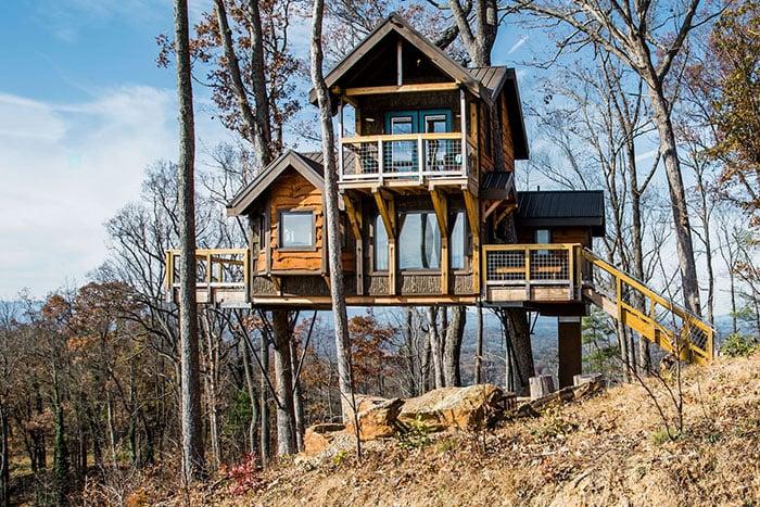 Sanctuary Treehouse Unique Airbnbs in North Carolina