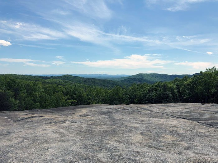 View from Summit Side of Stone Mountain State Park NC