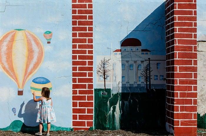 Balloon mural in Statesville NC