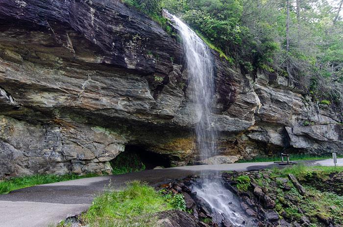 Bridal Veil Falls Highlands Waterfalls in North Carolina