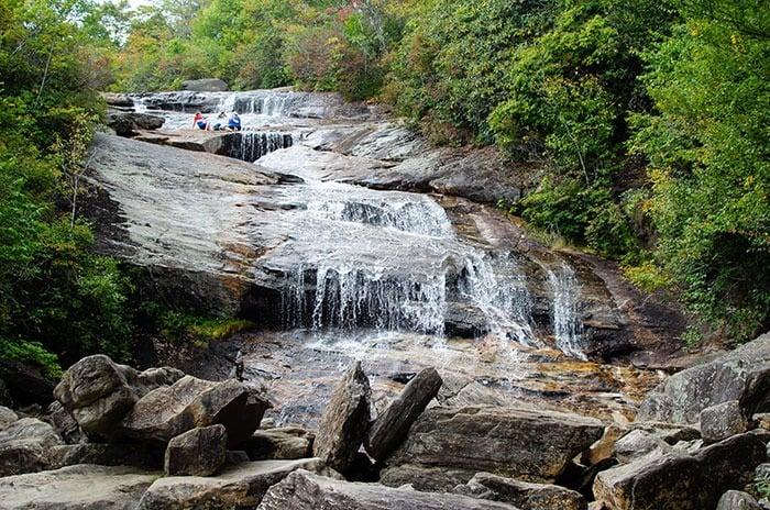 Graveyard Fields Waterfalls in North Carolina