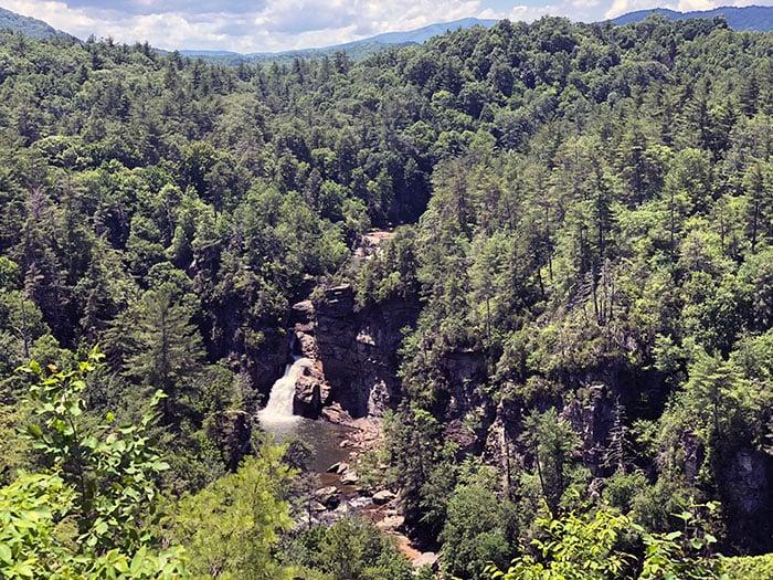 Linville Falls Waterfalls in North Carolina
